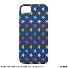 multicolor retro Stars pattern iPhone 5 case