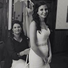 Love this sweet moment #morileebride @jessie_rhea shared with us of her mom lacing up her dress  We will be featuring mother-daughter pictures all week. DM us to be featured! #morilee #bride #realbride #motherdaughter #wedding #specialmoments