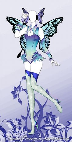 Prismatic Butterfly by MoonFaerieStudio on DeviantArt Cute Girl Dresses, Girls Dress Up, Manga Clothes, Drawing Clothes, Anime Girl Dress, Glass Castle, Crazy Costumes, Butterfly Drawing, Dress Drawing