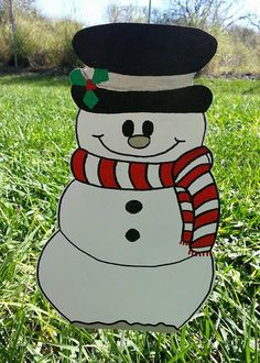 Snowman Yard Decoration Holiday Snowman by FlowerPowerShowers