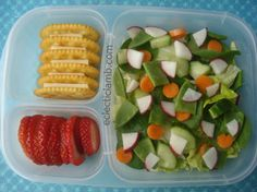 Salad, cheese, & crackers lunch