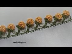 Crochet Borders, Filet Crochet, Crochet Stitches, Crochet Flower Tutorial, Crochet Flowers, Stampin Up Christmas, Diy Hair Accessories, Felt Art, Baby Knitting Patterns