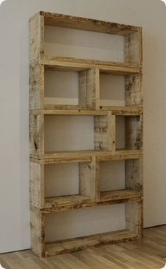 Destressed Wall Shelf Made From Pallets