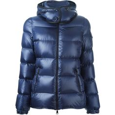Moncler 'Berre' padded jacket (67,480 INR) ❤ liked on Polyvore featuring outerwear, jackets, blue, straight jacket, zip front jacket, quilted jacket, moncler jacket and padded jacket