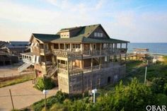 #Nags Head #OBX4U #OBXRealEstate One of a kind Oceanfront Coastal Home Custom built 5 Bedroom, 5 1/2 Bath