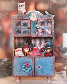 scrappylicious                : Holiday traditions or fairytales in a cupboard