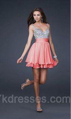 Chiffon Baby doll Empire Sleeveless Lavender Evening Dresses ykdress4362