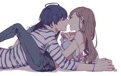 Hot Anime Couples, Romantic Anime Couples, Anime Couples Drawings, Anime Couples Sleeping, Anime Couples Hugging, Anime Couples Cuddling, Couple Anime Manga, Anime Love Couple, Anime Girls