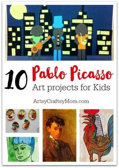 The name Picasso has become synonymous with the word artist. Kids can learn a lot from the artist, by trying out these 10 Pablo Picasso Projects for Kids.
