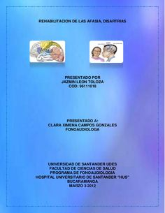 Rehabilitacion de las afasias y disartrias Speech Therapy, Knowledge, Memories, Blog, Speech Pathology, Physical Therapy, Occupational Therapy, Speech Language Therapy, Health