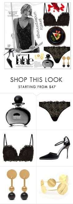 """The Prettiest Underpinnings"" by natalyapril1976 on Polyvore featuring Mode, Michel Germain, Wacoal, Gucci und Mulberry"
