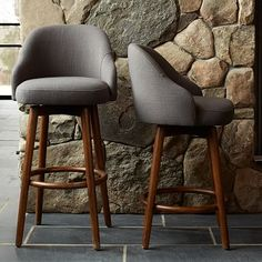 Saddle Bar + Counter Stool - Iron #westelm