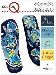 Night of Navy, Marina Mist, Soft Sky, Daffodil Delight