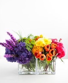 beautiful rainbow arrangement