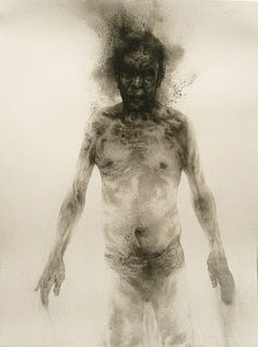 Diane Victor who is a superb artist whatever medium she uses. This is a smoke drawing - sometimes referred to as 'fumage'. Figure Painting, Figure Drawing, Painting & Drawing, Smoke Painting, Illustrations, Illustration Art, Smoke Drawing, South African Artists, Artwork Images