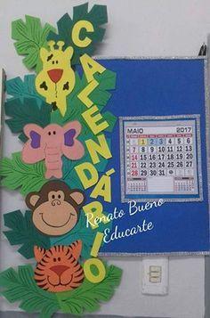 Ideias de cartazes escolares (Calendário, Tempo, Quantos Somos, Comportamento, Aniversariantes)