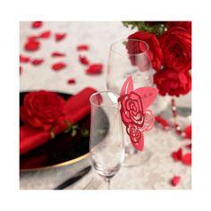グラスカード(赤いバラ)10枚セット>披露宴演出アイテム 結婚式グッズ専門店シェリーマリエ