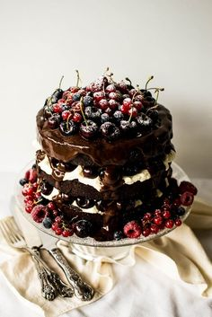 "Black Forest gâteau and Black Forest cake are the English names for the German dessert Schwarzwälder Kirschtorte, literally ""Black Forest cherry-torte"", where it originated."