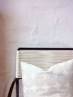 The Striped Circle Pillow By Rebecca Atwood Striped Chair, Living Room  Pillows, Bedroom Decorating