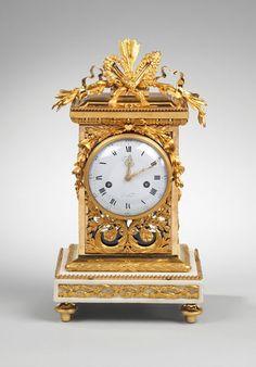 A Louis XVI Gilt Bronze Mantel Clock, circa 1770