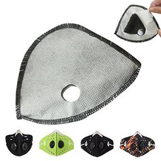 WOLFBIKE Face Mask Active Carbon Replaceable Filters Replacement, 3 Pack ** Want additional info? Click on the image.