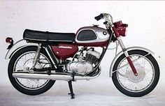 1965 Suzuki T20 250cc Twin-Cylinder Two-Stroke Air-Cooled Six-Speed Engine (Was at the time the fasted 250cc bike in the world)