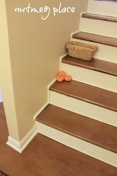 Brown paper stairs.
