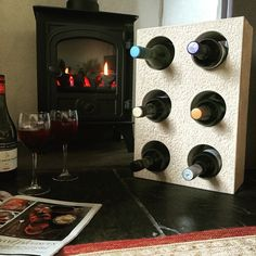 Andrew James hand crafted stone wine units. 07966366816.