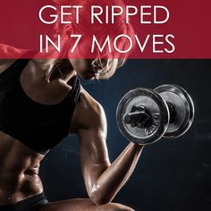 Tone, define, and get ripped! This is a nonstop total body toning workout. Push your muscles to the limit in this 7 move workout. Get ready to get ripped! #getripped #strengthtraining #liftweights