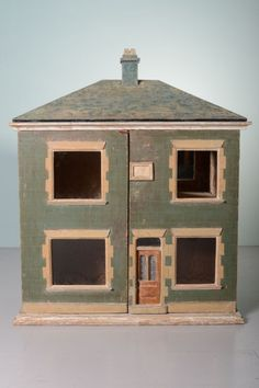 english antique doll's house in original paint