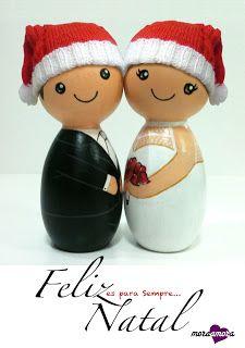 Noivinhos de Madeira by MoraAmora - Topo de Bolo e muito mais...: Feliz Natal!