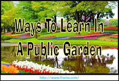 Funschooling & Recreational Learning: Fun Ways To Learn At A Public Garden