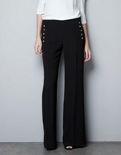 Pantaloni borchie lati - ZARA