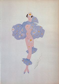 "Erté Print, Art Deco ""Bal Tabarin"" Le Subjonctif 1935 Original Vintage Art Print. Sumptuous Eye Catching Color"