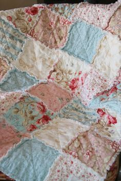 @Julie Forrest Lawson, I need to pick your brain on how to make Maddy a shabby chic blanket.