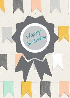 Postkarte Happy Birthday