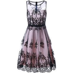 Mesh Floral Print Prom Cocktail Dress (765 INR) ❤ liked on Polyvore featuring dresses, mesh dress, floral dresses, cocktail prom dress, flower print dress and purple dress