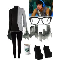 Calum spotting you outside an interview by phoebeav on Polyvore featuring polyvore, fashion, style, Maison Margiela, Miss Selfridge, River Island, Jeffrey Campbell and Madewell