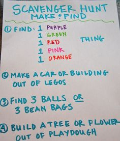 Love the idea of creating a scavenger hunt for my kids when I'm trying to get something done (more info at http://www.kiwicrate.com)