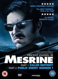 Mesrine Part 1: Killer Instinct (2008) R -  Stars: Vincent Cassel, Cécile De France, Gérard Depardieu.  -  The story of french gangster Jacques Mesrine, before he was called Public Enemy N°1.  -  ACTION / BIOGRAPHY / CRIME