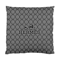 To sleep, perchance to Drool...on a handmade Hermes logo pillow from the Etsyverse.