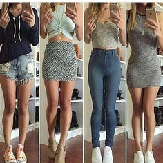 Photo Fall Outfits, Outfits For Teens, School Outfits, Summer Outfits, Casual Outfits, Dress Outfits, Cute Outfits, Fashion Outfits, Womens Fashion