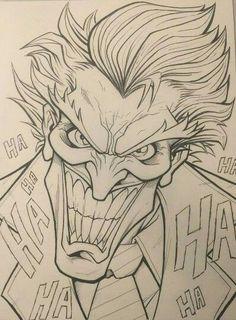 dibujos Wall Art tree of life wall art Joker Drawings, Marvel Drawings, Cool Art Drawings, Pencil Art Drawings, Art Drawings Sketches, Cartoon Drawings, Cartoon Art, Joker Sketch, Tattoo Sketches