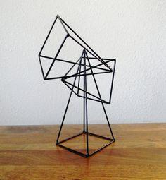 Geometric Pyramid Sculptures  Set of 3 in Black by RagNBoneVintage, $60.00