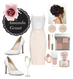 """Mrs President."" by amanda-elpidio on Polyvore featuring Warehouse, Antonio Berardi, Fergie, Nam Cho, Bobbi Brown Cosmetics, Vince Camuto, Givenchy, Michael Kors, Accessorize and Crate and Barrel"
