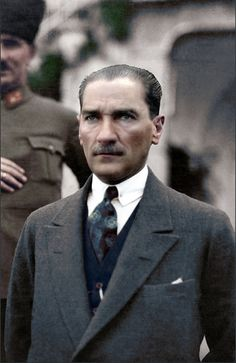Turkish President Mustafa Kemal Atatürk - at his villa in Izmir during his wedding to Latife Kemal wallpaper hayvan Mustafa Kemal Atatürk The Legend Of Heroes, The Turk, Portraits, Great Leaders, Ottoman Empire, Historical Pictures, Aesthetic Photo, Presidents, Handsome