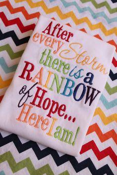 Rainbow Baby Onesie or Shirt by sarahsbabyemporium on Etsy, $20.00