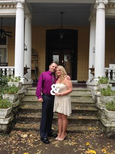 Travis and Heather were married at the Beall Mansion in Alton, IL on Wedding Reception Venues, Receptions, Bed And Breakfast, Perfect Wedding, Wedding Planning, October, Weddings, Mansions, Wedding Reception Locations