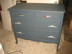 Broken Barn Antiques - Manly dresser with cleats and fishing lures for pulls