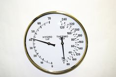 """Thermometer/Hygrometer:  round 7"""" Sauna Accessories, Clock, House, Ideas, Watch, Home, Clocks, Thoughts, Homes"""